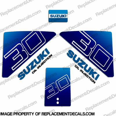 Suzuki 30hp Decal Kit - Early 1980&#39s