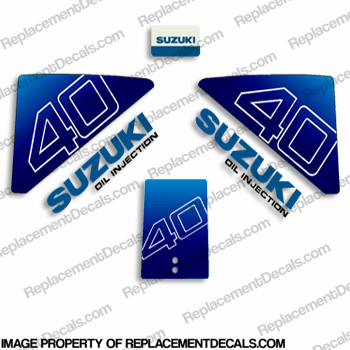 Suzuki 40hp Decal Kit