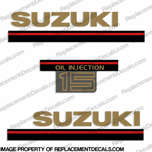 Suzuki 1995 9.9hp Kicker Decal Kit