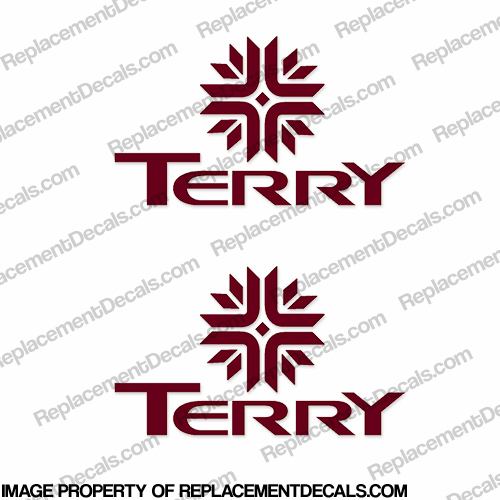 Terry RV Logo Decals (Set of 2) - Any Color!