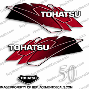 Tohatsu 50hp Decals - Red