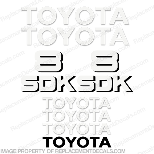 Toyota Skid Steer SDK-8 Decal Kit
