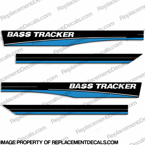 Bass Tracker 16 Boat Decals - Blue
