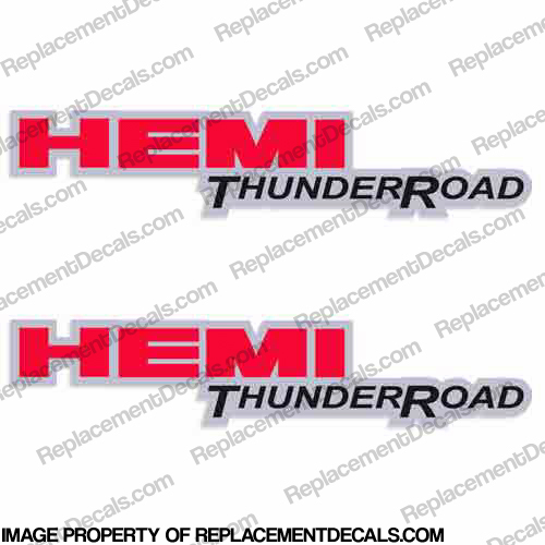 Dodge Ram Hemi Thunder Road Truck Decals (Set of 2)