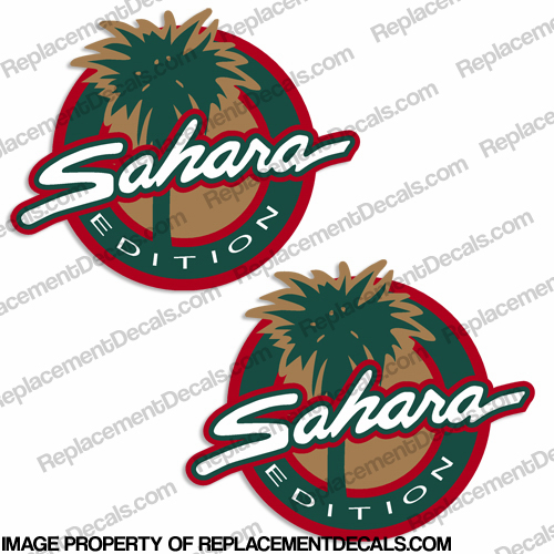 Jeep Wrangler Sahara Edition Decal (Set of 2)