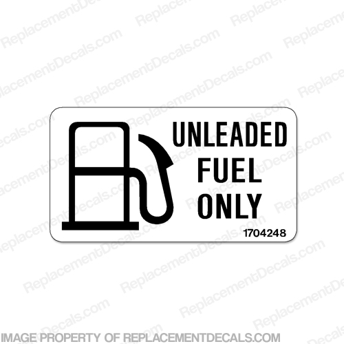 Label Decal - Unleaded Fuel Only