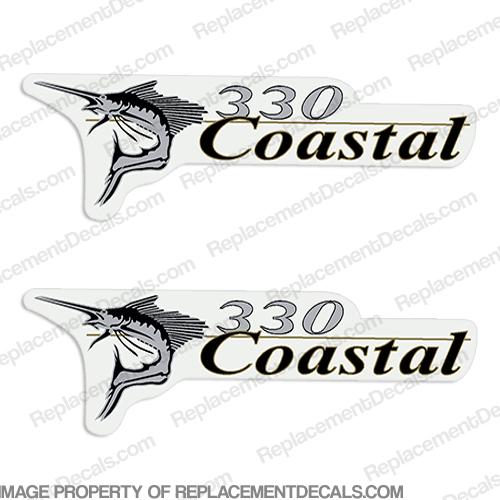 Wellcraft Coastal 330 Logo Boat Decals (Set of 2)