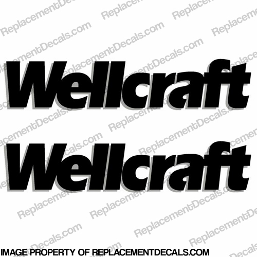 Wellcraft Boat Decals - Style 1 - (Set of 2) - 2 Color!