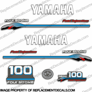 Yamaha 100hp 4-stroke Fuel Injected 2000 Model Decals