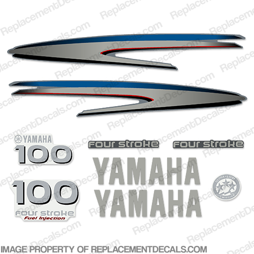 Yamaha 100hp 4-stroke Decals