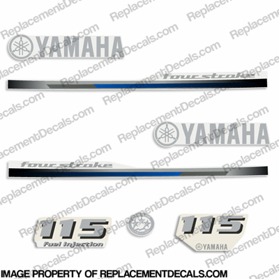Yamaha 115hp Decals - 2013 Style