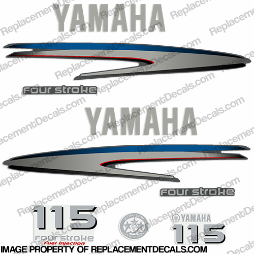 Yamaha 115hp 4-stroke Decals