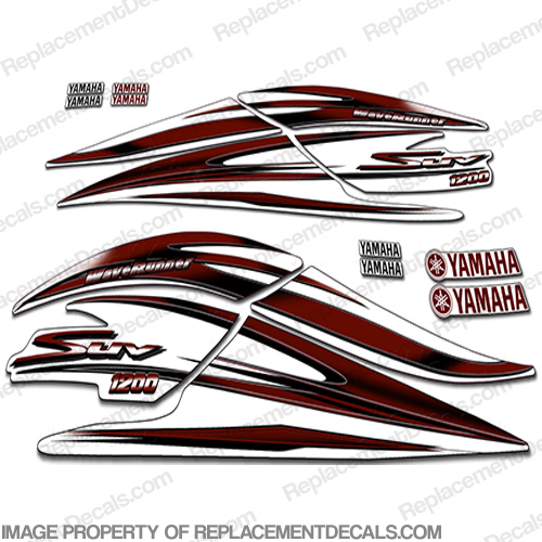 Yamaha 2000 1200 suv decal kit maroon for Yamaha replacement decals