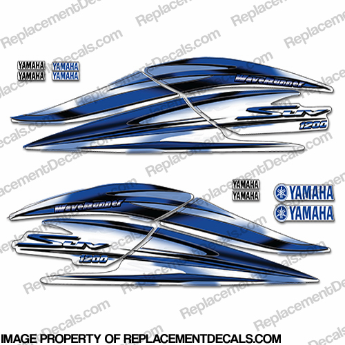 Yamaha 2000 2003 1200 suv decal kit blue for Yamaha replacement decals