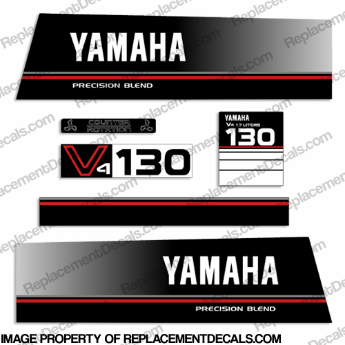 Yamaha 130hp Precision Blend Decals