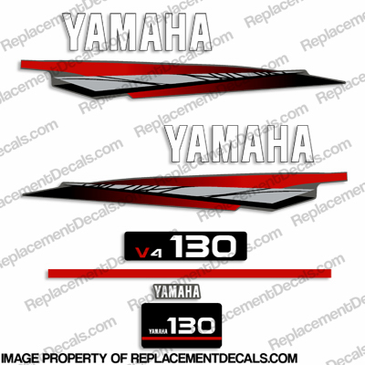 Yamaha 130hp 2-Stroke Outboard Decals