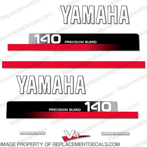 Yamaha 140hp Decal Kit - 1990s