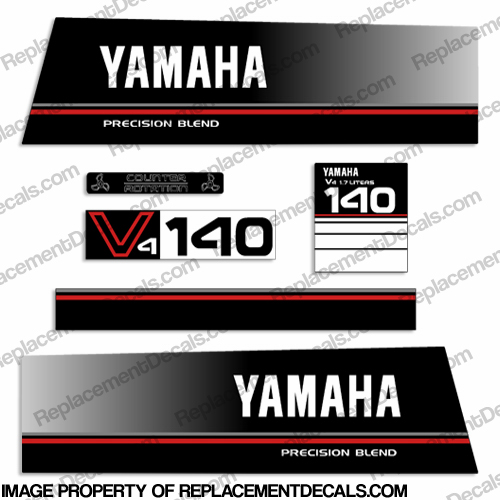 Yamaha 140hp Precision Blend Decals