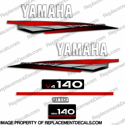 Yamaha 140hp 2-Stroke Decal Kit - 2002-2006