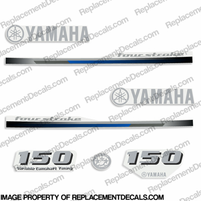 Yamaha 150hp Fourstroke Decals - 2013
