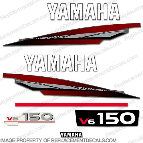 Yamaha 150hp 2-Stroke Decal Kit - 1998 - 2001