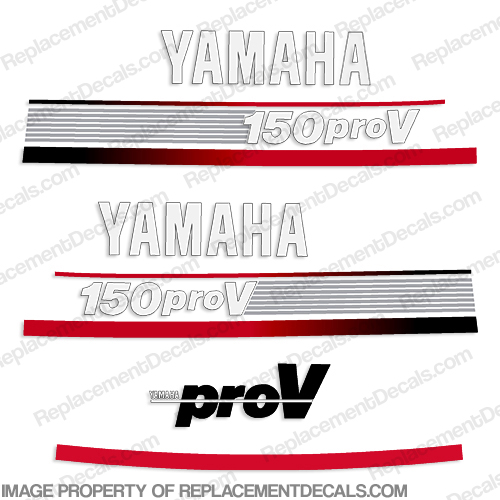 Yamaha 150hp ProV Decal Kit- 1992