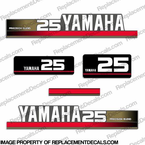 Yamaha 1995 25hp decal kit gold for Yamaha replacement decals