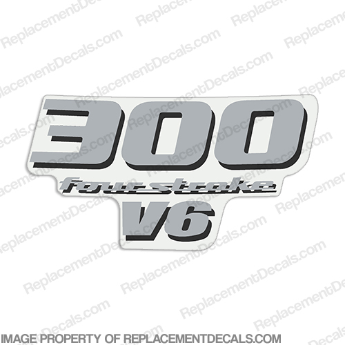 Yamaha 300hp v6 rear decal 2008 silver for Yamaha replacement decals