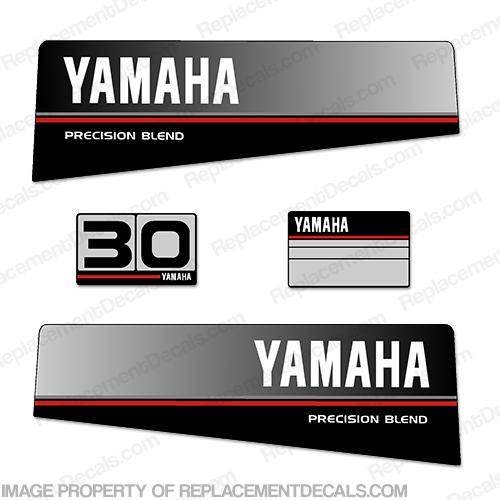 Yamaha 1986 1989 30hp decal kit for Yamaha replacement decals