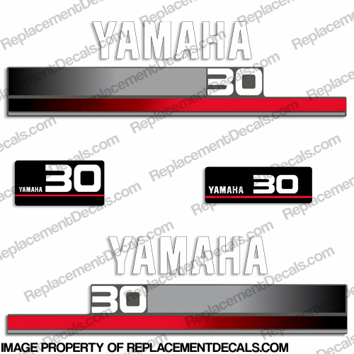 Yamaha 30hp decals 1990 39 s for Yamaha replacement decals