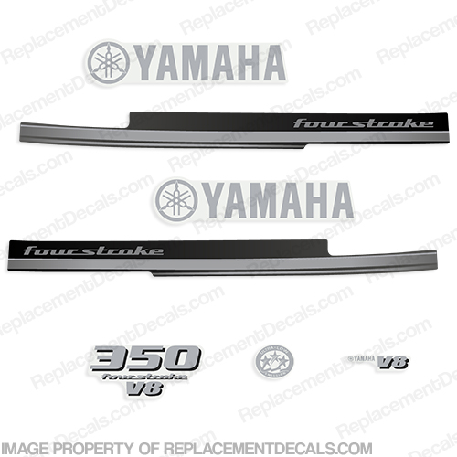 Yamaha 350hp 4-Stroke V8 Decal Kit - 2008 - 2010
