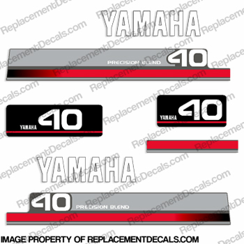 Yamaha 1996 40hp decals for Yamaha replacement decals