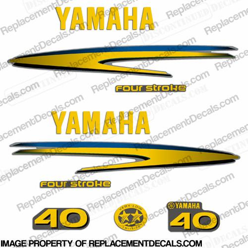 Yamaha 40hp 4 stroke decals custom yellow