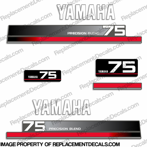 Yamaha 75hp decal kit 1990 39 s for Yamaha replacement decals