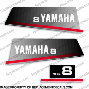 Yamaha 1994 8hp decals for Yamaha replacement decals