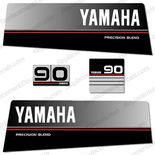 Yamaha 1986 1989 90hp decals for Yamaha replacement decals