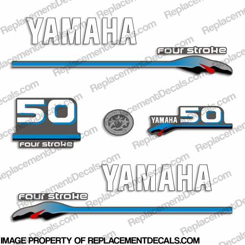 Yamaha 50hp fourstroke decals 2000 style for Yamaha replacement decals