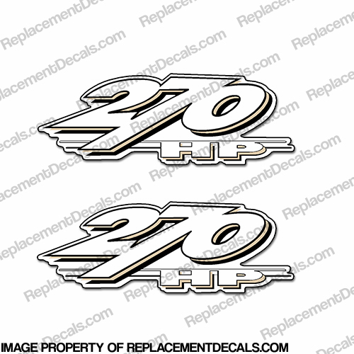 Yamaha ls2000 270hp decals set of 2 beige for Yamaha replacement decals