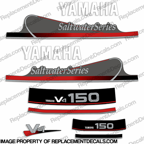 Yamaha 150hp V4 Saltwater Series Decals