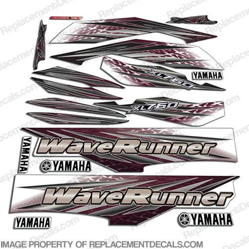 Yamaha 2000 2001 xl760 pwc decals for Yamaha replacement decals