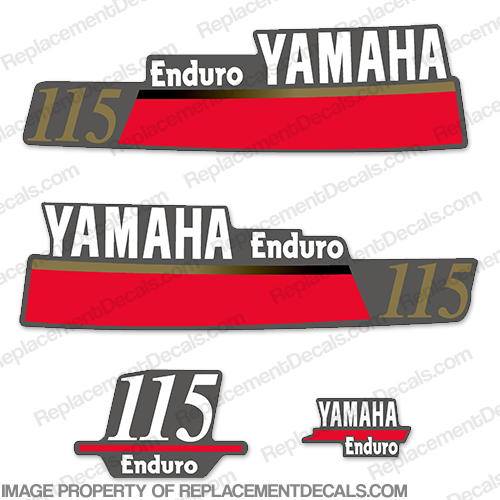 Yamaha 115hp Enduro Decals