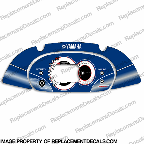 Yamaha FX High Output PWC Speedometer Cover - Blue