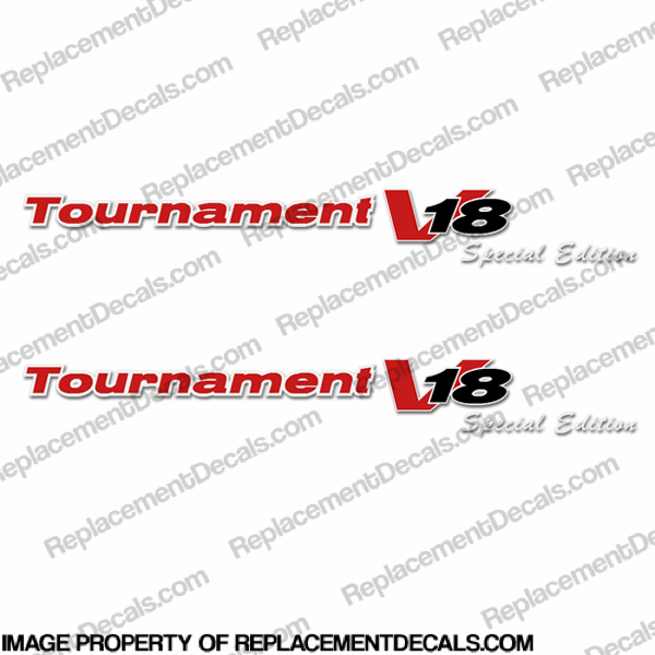 "Tracker ""Tournament V18 Special Edition"" Decals (Set of 2)"
