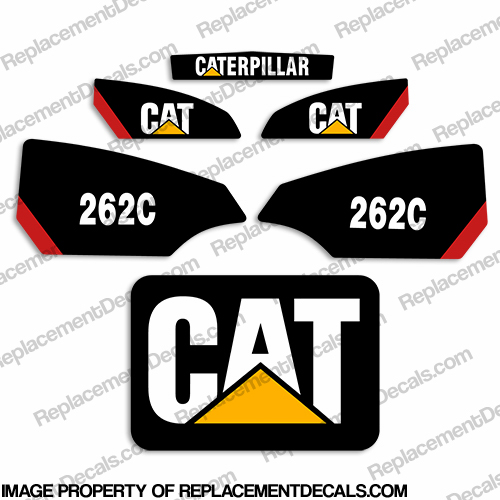 Caterpillar 262C Skid Steer Decals