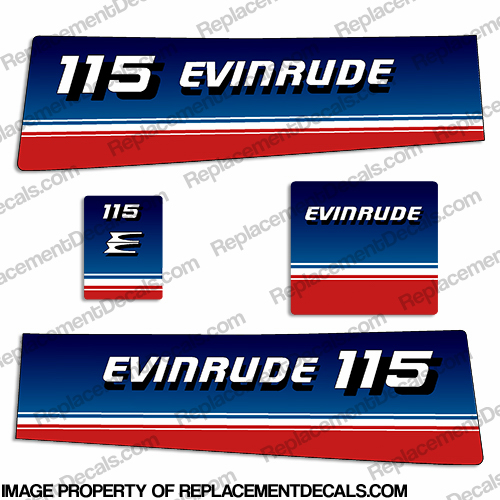 Evinrude 1980 115hp Decal Kit