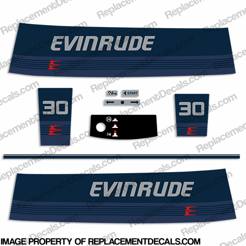 Evinrude 1986 30hp Decal Kit