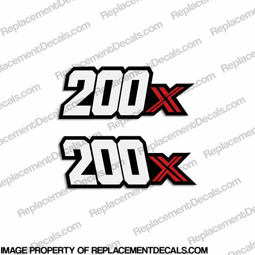 1985 ID ATC200X  HONDA ATC 200X CHROME FOIL DECAL STICKER EMBLEM 3 WHEELER