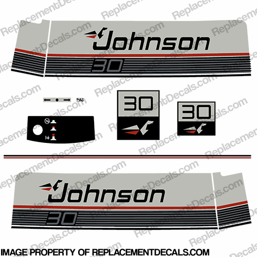 Johnson 30HP  VRO Decals