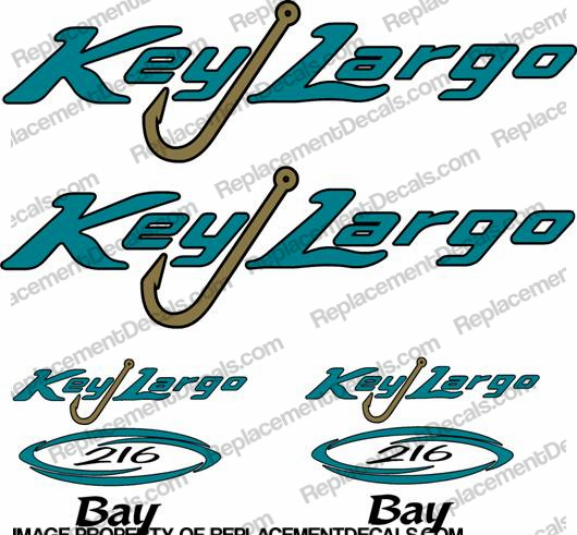 Key Largo 216 Bay Boat Decal Package