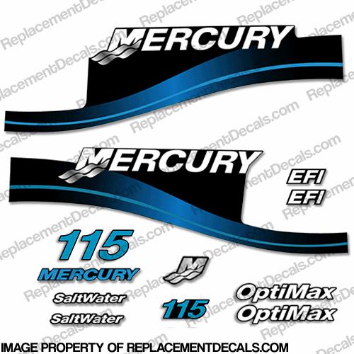 Mercury 115hp EFI/Optimax Decal Kit (Blue)